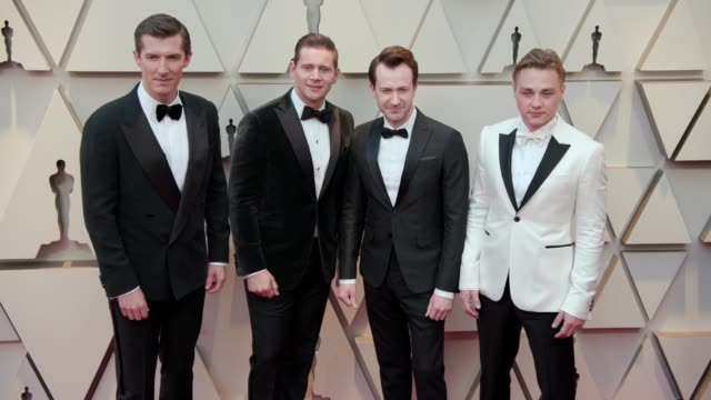 Gwilym Lee Allen Leech Joseph Mazzello and Ben Hardy at Dolby Theatre on February 24 2019 in Hollywood California