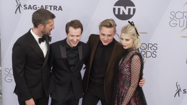 Gwilym Lee Joseph Mazzello Ben Hardy Lucy Boynton at the 25th Annual Screen Actors Guild Awards at The Shrine Auditorium on January 27 2019 in Los...