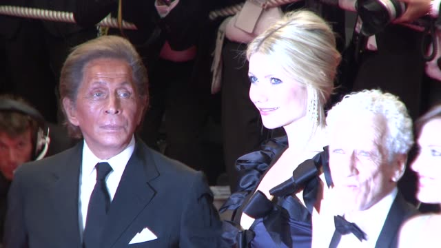 gwyneth paltrow and valentino garavani at the cannes arrivals for two lovers in cannes on may 19 2008 - cannes stock videos & royalty-free footage