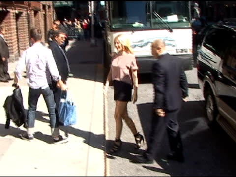 gwyneth paltrow arrives at the david letterman show in new york at the celebrity sightings in new york at new york ny - gwyneth paltrow stock videos and b-roll footage