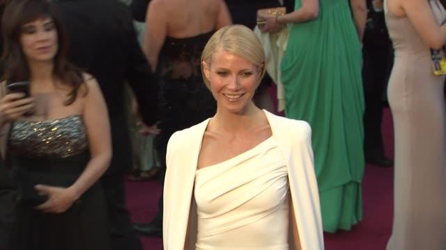 gwyneth paltrow at 84th annual academy awards arrivals on 2/26/12 in hollywood ca - gwyneth paltrow stock videos and b-roll footage