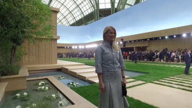 gwyneth paltrow at chanel - haute couture paris fashion week 2016 on january 26, 2016 in paris, france. - グウィネス・パルトロー点の映像素材/bロール