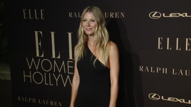 gwyneth paltrow at elle's 26th annual women in hollywood celebration presented by ralph lauren and lexus at four seasons hotel los angeles at beverly... - グウィネス・パルトロー点の映像素材/bロール