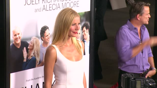 gwyneth paltrow at thanks for sharing los angeles premiere on 9/16/2013 in hollywood ca - gwyneth paltrow stock videos and b-roll footage