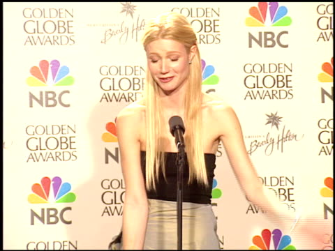 Gwyneth Paltrow at the 1999 Golden Globe Awards at the Beverly Hilton in Beverly Hills California on January 24 1999