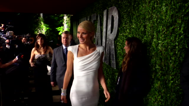 gwyneth paltrow at the 2012 vanity fair oscar party hosted by graydon carter - inside party at west hollywood ca. - oscar party stock videos & royalty-free footage