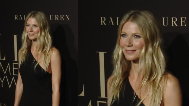 gwyneth paltrow at the elle's 26th annual women in hollywood celebration presented by ralph lauren and lexus - グウィネス・パルトロー点の映像素材/bロール