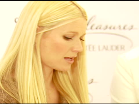 Gwyneth Paltrow at the Estee Lauder Launch of 'Pleasures by Gwyneth Paltrow' Press Conference at Saks Fifth Avenue in Beverly Hills California on...