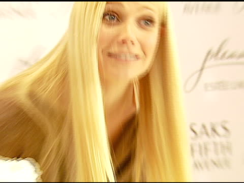 gwyneth paltrow at the estee lauder launch of 'pleasures by gwyneth paltrow' press conference at saks fifth avenue in beverly hills california on... - gwyneth paltrow stock videos and b-roll footage