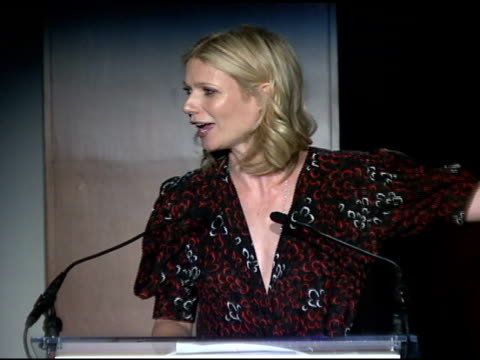 gwyneth paltrow at the food bank for new york city's 25th anniversary and 5th annual cando awards dinner at abigail kirsch's pier sixty at chelsea... - chelsea piers stock videos & royalty-free footage