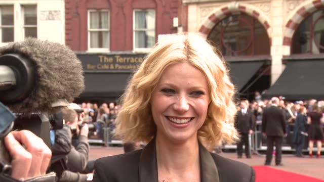 vidéos et rushes de gwyneth paltrow at the iron man london premiere at london . - première