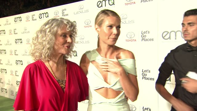 gwyneth paltrow, blythe danner at 25th annual environmental media awards in los angeles, ca 10/24/15 - environmental media awards stock videos & royalty-free footage