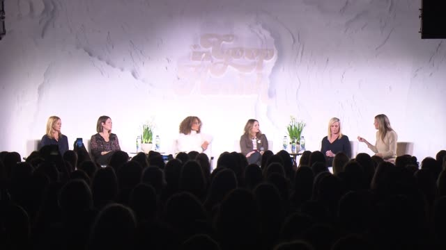 SPEECH Gwyneth Paltrow Drew Barrymore Laura Linney Chelsea Handler Elaine Welteroth at GOOP Health Event on January 27 2018 in New York City