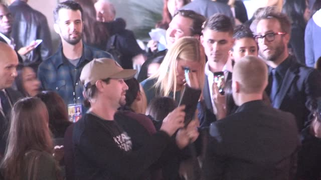 Gwyneth Paltrow greeting fans at the Mortdecai Premiere in Hollywood in Celebrity Sightings in Los Angeles