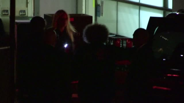 gwyneth paltrow leaving the coldplay concert in hollywood 05/04/12 - gwyneth paltrow stock videos and b-roll footage