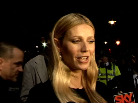 Gwyneth Paltrow on being a mother at the The Times BFI 49th London Film Festival 'Proof' Screening on October 20 2005