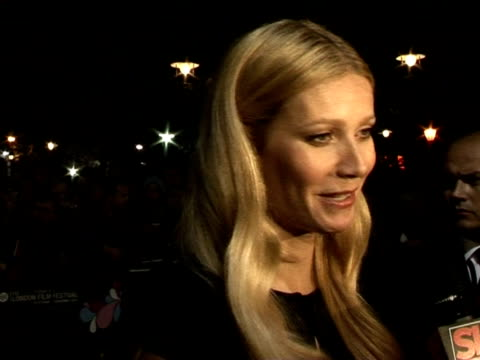 gwyneth paltrow on her experiences in london at the the times bfi 49th london film festival - 'proof' screening on october 20, 2005. - film festival stock videos & royalty-free footage