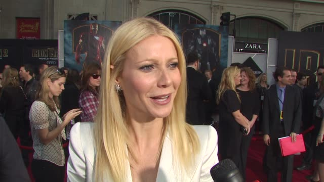 Gwyneth Paltrow on not having seen the film yet at the 'Iron Man 2' Premiere at Hollywood CA
