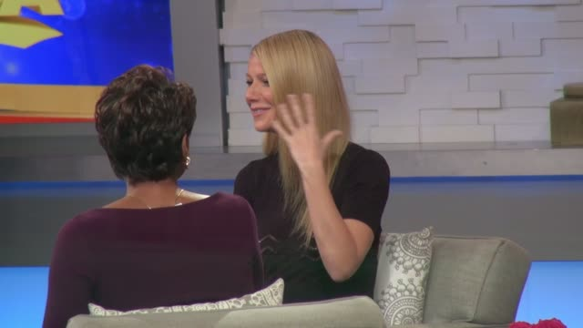 Gwyneth Paltrow on the set of the Good Morning America show in Celebrity Sightings in New York