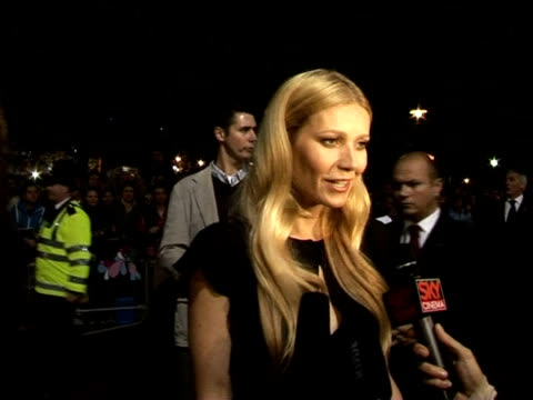 gwyneth paltrow on what roles she prefers at the the times bfi 49th london film festival 'proof' screening on october 20 2005 - gwyneth paltrow stock videos and b-roll footage