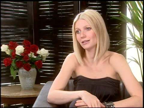gwyneth paltrow on working with director james gray on the worldwide success of iron man and on taking a break from acting to be a mother at the 2008... - gwyneth paltrow stock videos and b-roll footage