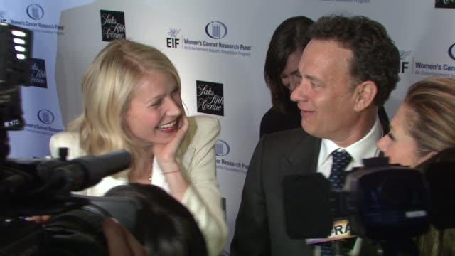 gwyneth paltrow, tom hanks at the saks fifth avenue's 'an unforgettable evening' at los angeles ca. - 2009 stock videos & royalty-free footage