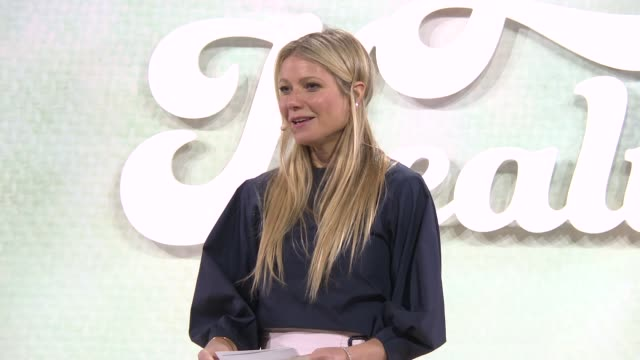 PRESENTATION Gwyneth Paltrow welcomes guests to explore aspects of wellbeing Caroline Myss on our body being like a ship trying to right itself at In...