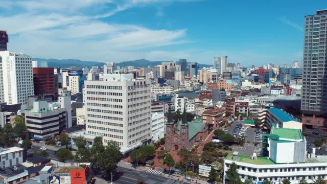gyesan catholic church and jeil church / jung-gu, daegu, south korea - boulevard stock videos & royalty-free footage