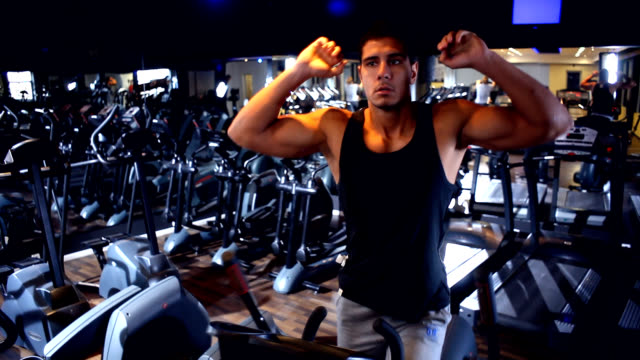 gym exercise - cross trainer stock videos & royalty-free footage