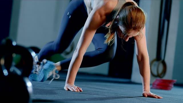 gym training. squats - cross training stock videos & royalty-free footage