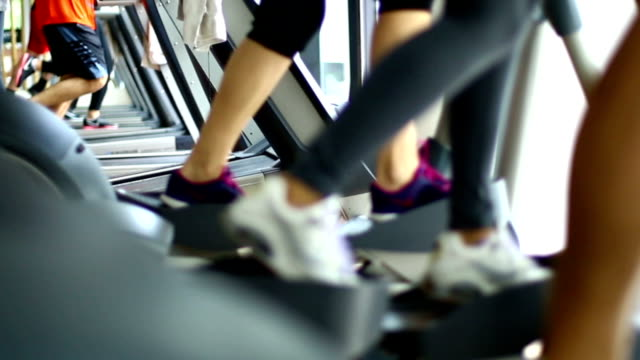 gym warm up. - treadmill stock videos & royalty-free footage