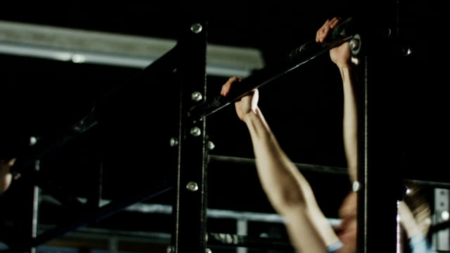 gym workout in a gym - bodyweight training stock videos & royalty-free footage