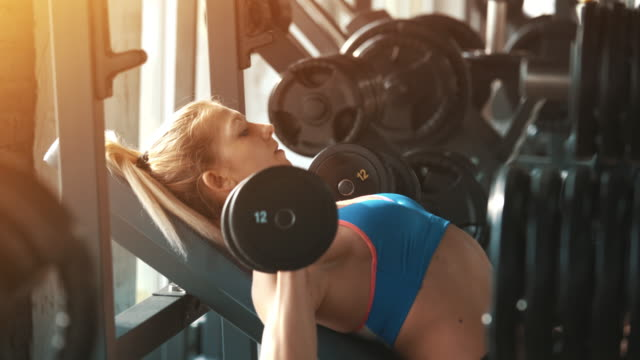 gym workout. - muscular contraction stock videos and b-roll footage