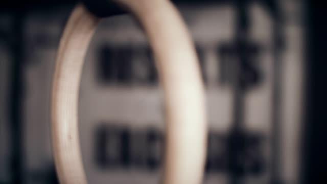 gymnastics rings - gymnastic rings stock videos & royalty-free footage