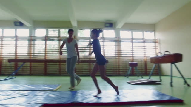4k: gymnastics. - gymnastics stock videos & royalty-free footage
