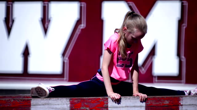 gymnastics warm up - doing the splits stock videos & royalty-free footage