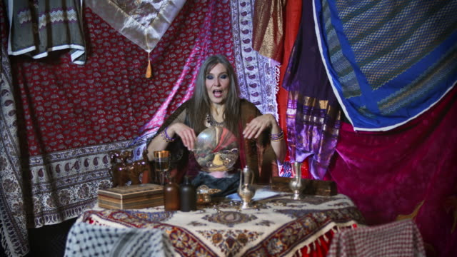 Gypsy Fortune Teller with Faulty Crystal Ball