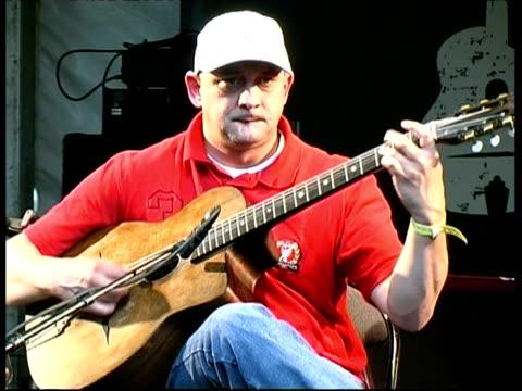 Gypsy Jazz guitarist Wauwau Adler performing, France