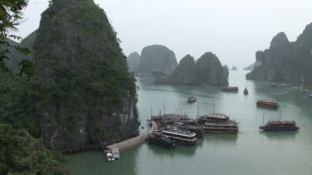 Ha Long Bay, VietnamView of a harbor in Ha Long Bay Vietnam