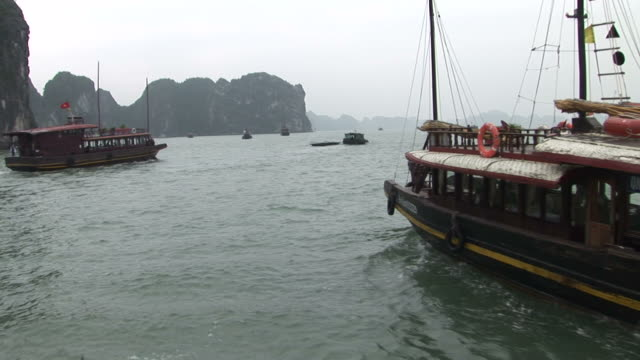 Ha Long Bay, VietnamView of Junk transportation in Ha Long Bay Vietnam