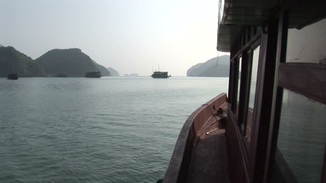 Ha Long Bay, VietnamView off boat deck looking toward Ha Lang Bay Vietnam
