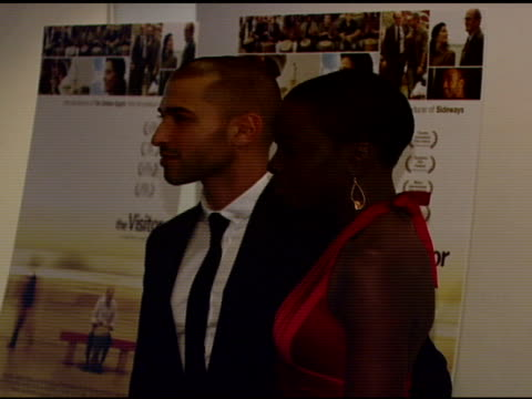 Haaz Sleiman and Danai Gurira at the 'The Visitor' Premiere at the Museum of Modern Art in New York New York on April 1 2008