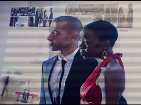 haaz sleiman and danai gurira at the 'the visitor' premiere at the museum of modern art in new york new york on april 1 2008 - danai gurira stock videos and b-roll footage