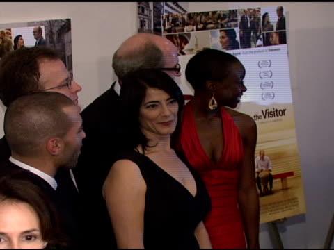 haaz sleiman tom mccarthy hiam abbass robert jenkins and danai gurira at the 'the visitor' premiere at the museum of modern art in new york new york... - danai gurira stock videos and b-roll footage