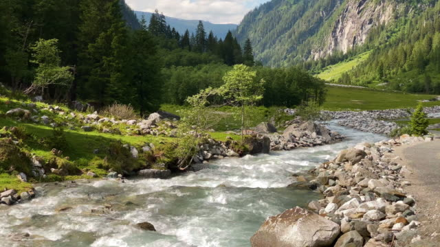 habach river at valley - austria stock videos & royalty-free footage