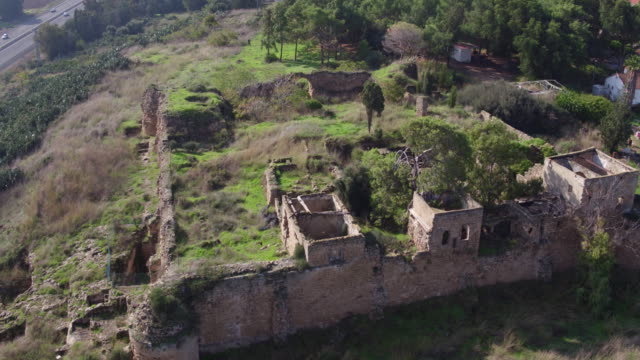 habonim, cafarlet is a crusader fortress that was located in the village of kafr lam, built in the 8th or 9th century. today, it is located inside moshav habonim, israel - the crusades stock videos & royalty-free footage