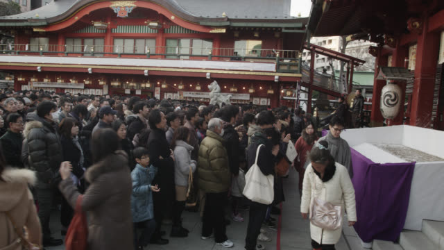 hachimode at kanda-myojin shrine - shrine stock videos & royalty-free footage