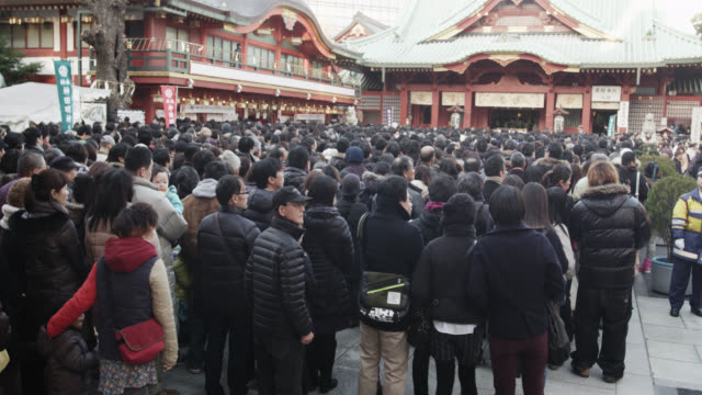 hachimode at kanda-myojin shrine - shrine stock videos and b-roll footage