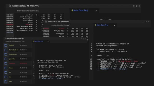vidéos et rushes de code de programme bouclables attaque pirate - application mobile