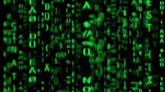 hacker. codierung auf einem bildschirm. - computerfehler stock-videos und b-roll-filmmaterial